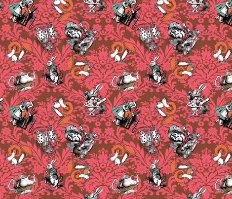 Wonderland Damask fabric by bad-doggie on Spoonflower - custom fabric