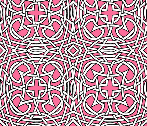 Knots on pink fabric by whimzwhirled on Spoonflower - custom fabric