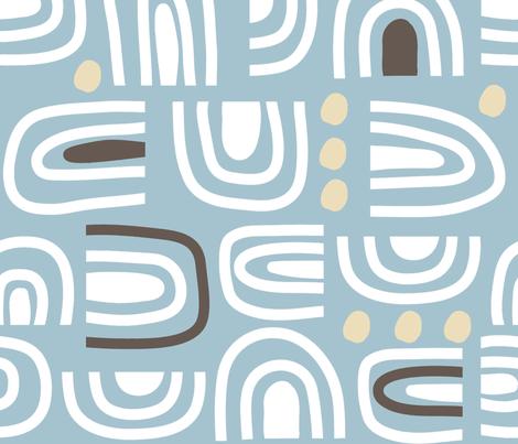 Mod Wallpaper 194 fabric by pattyryboltdesigns on Spoonflower - custom fabric