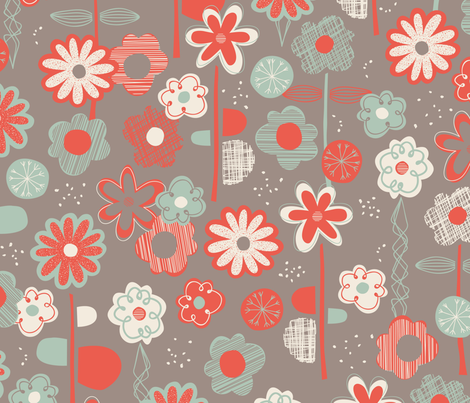 The Nursery, circa 1968 fabric by jennartdesigns on Spoonflower - custom fabric