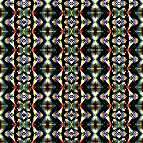 green and red mofit zig zag fabric by dk_designs on Spoonflower - custom fabric