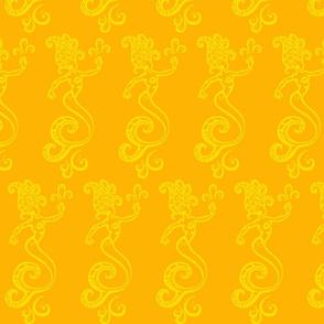 Magical Mermaids-yellow/orange