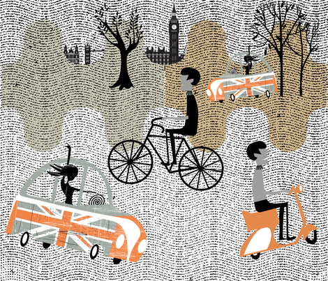 London Mods fabric by chickoteria on Spoonflower - custom fabric