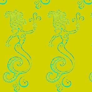 Magical Mermaids-pear green