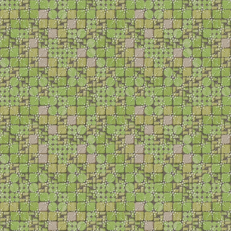 beaded tiles moss fabric by glimmericks on Spoonflower - custom fabric