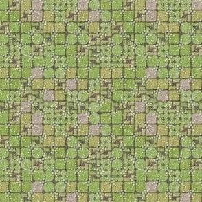 beaded tiles moss