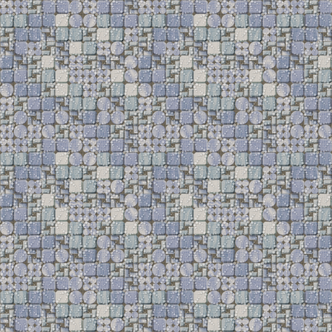 beaded tiles blue ice fabric by glimmericks on Spoonflower - custom fabric