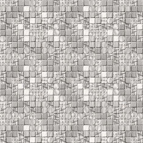 beaded tiles frost fabric by glimmericks on Spoonflower - custom fabric