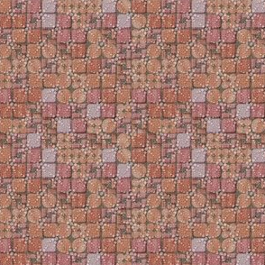 beaded tiles coral