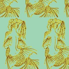Contemplating Mermaids-aqua
