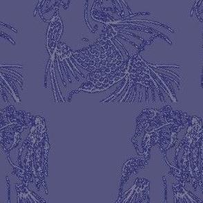Contemplating Mermaids-purple