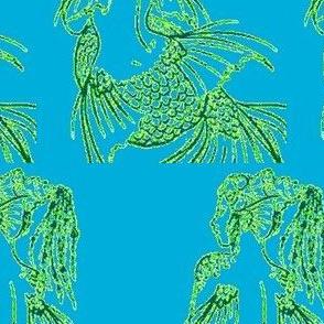 Contemplating Mermaid-blue
