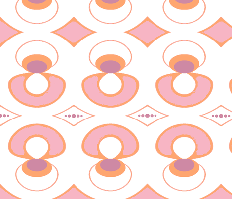 pink mod fabric by kerryn on Spoonflower - custom fabric