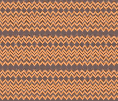 chevronsorange fabric by snap-dragon on Spoonflower - custom fabric