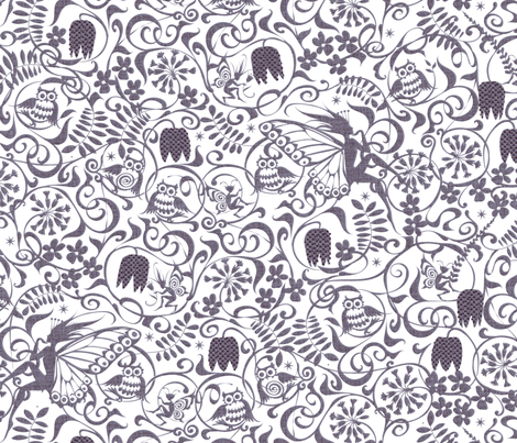 Midsummer Moonlight fabric by spellstone on Spoonflower - custom fabric