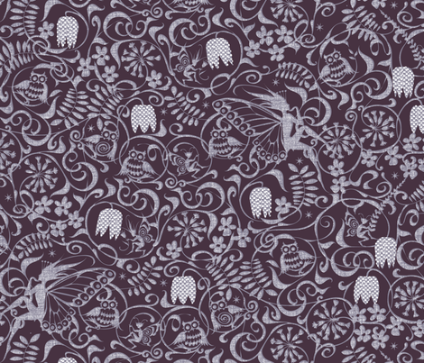Midsummer Midnight fabric by spellstone on Spoonflower - custom fabric