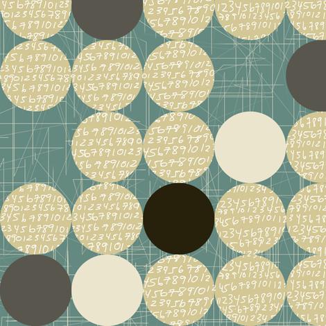 dots & numbers fabric by maja_studio on Spoonflower - custom fabric