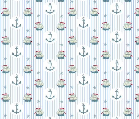 nautical fabric by snap-dragon on Spoonflower - custom fabric
