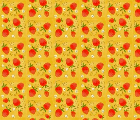strawberry fabric by notforgottenfarm on Spoonflower - custom fabric