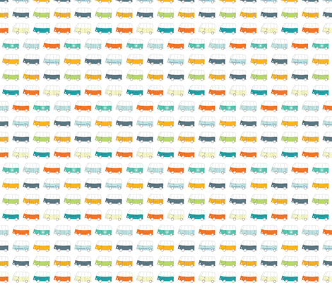 Buses fabric by els_vlieger on Spoonflower - custom fabric