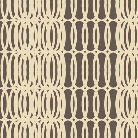mod fab(cream + chocolate) fabric by pattyryboltdesigns on Spoonflower - custom fabric