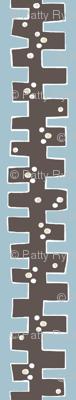 mod 'drop box' stripe(chocolate, cream + smokey sky)