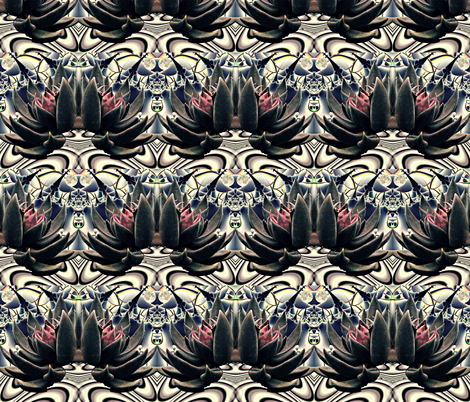 Modern Nouveau Lotus fabric by whimzwhirled on Spoonflower - custom fabric