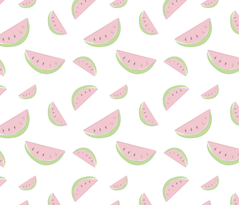 Farmers Market {Watermelon} fabric by printablegirl on Spoonflower - custom fabric