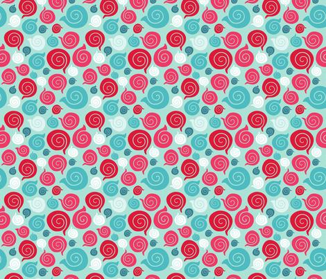 sea shell pattern fabric by kostolom3000 on Spoonflower - custom fabric