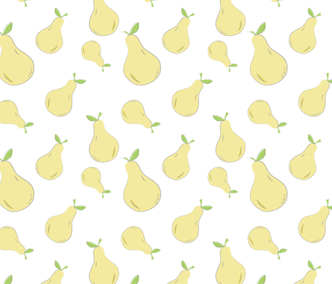 Farmers Market {Pear} fabric by printablegirl on Spoonflower - custom fabric