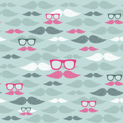 hipster mustaches pattern fabric by kostolom3000 on Spoonflower - custom fabric