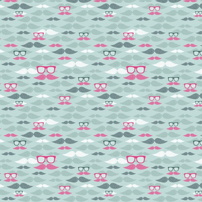 hipster mustaches pattern