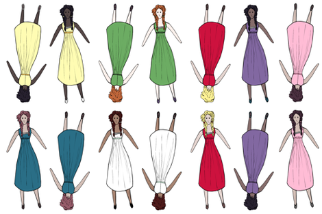 Doll in Seven Colors fabric by pond_ripple on Spoonflower - custom fabric