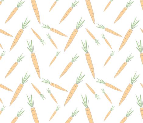 Farmers Market {Carrot} fabric by printablegirl on Spoonflower - custom fabric