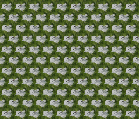Westie in the Grass-ed fabric by altrincham on Spoonflower - custom fabric