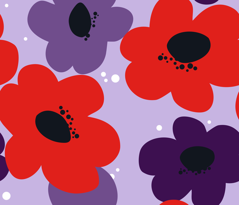 Bold Mama {Violet} fabric by printablegirl on Spoonflower - custom fabric