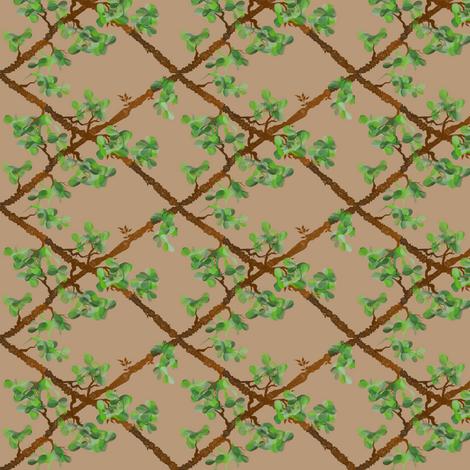Trellis Vine fabric by ravynscache on Spoonflower - custom fabric