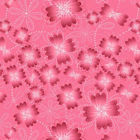 Crimson Pearlblossoms fabric by jjtrends on Spoonflower - custom fabric