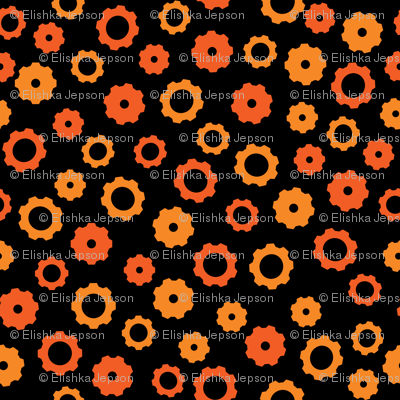 Evil Robot Gears (Orange)