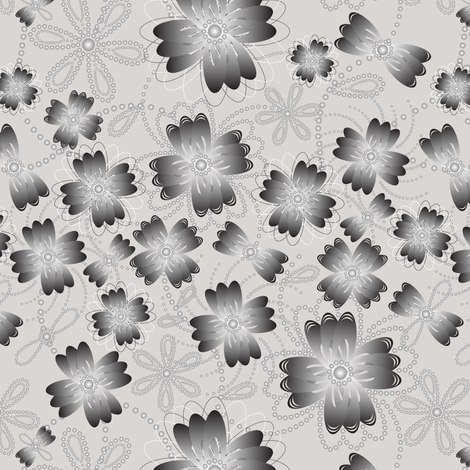 Argentine Pearlblossoms (lt.) fabric by jjtrends on Spoonflower - custom fabric
