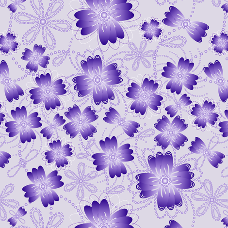 Lavender Pearlblossoms (lt.) fabric by jjtrends on Spoonflower - custom fabric