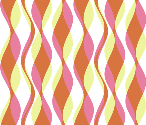 Cellophane Streamers - Spice fabric by inscribed_here on Spoonflower - custom fabric