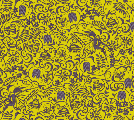 Midsummer Candlelight fabric by spellstone on Spoonflower - custom fabric