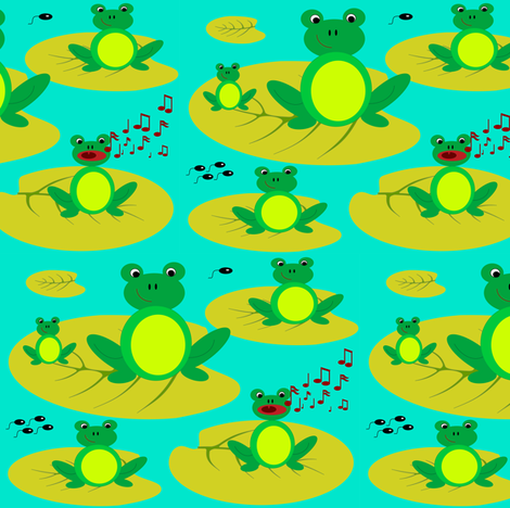 frogs_in tune fabric by annets on Spoonflower - custom fabric