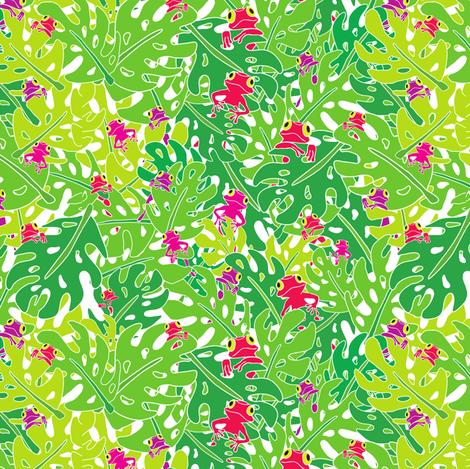 Pick-a-boo Frog fabric by suestrobel on Spoonflower - custom fabric