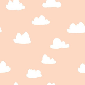clouds // blush baby nursery girly nursery design for home decor
