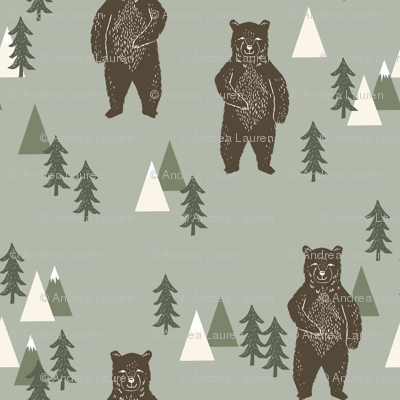 forest bear // camping trees woodland forest kids