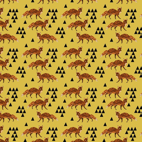 fox // geometric fox geo mustard triangles kids nursery baby woodland fox quilt fox bedding