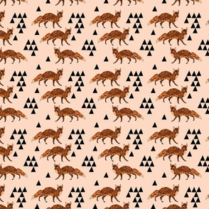 fox // blush nursery kids triangle baby fox woodland geo fox