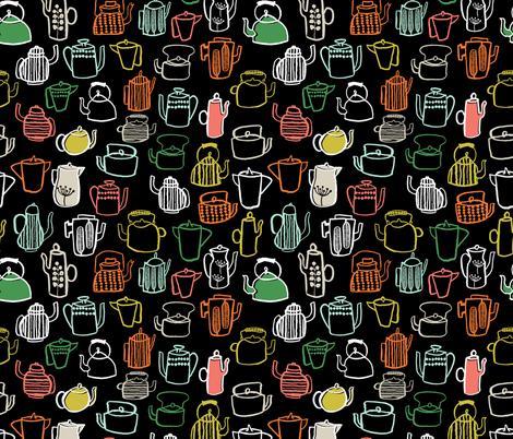 Teapots - Kitchen Series by Andrea Lauren fabric by andrea_lauren on Spoonflower - custom fabric